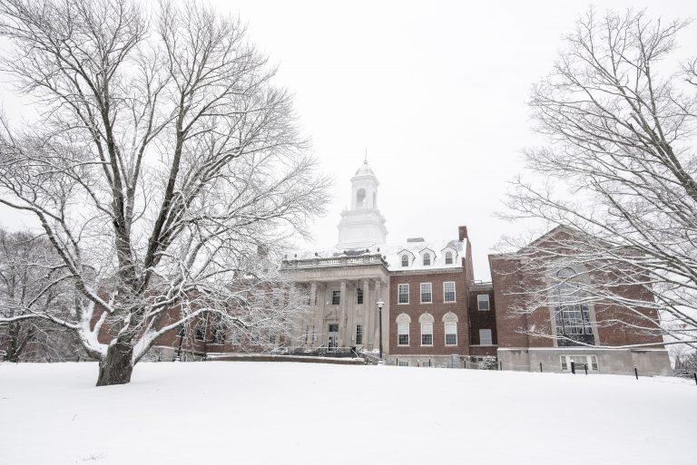 Wilbur Cross covered in snow