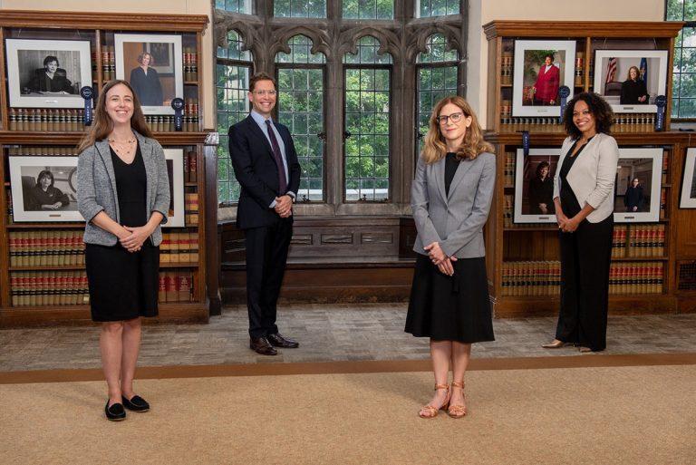 UConn Law Professors Carly Zubrzycki, Travis Pantin, Anna VanCleave and Nadiyah Humber
