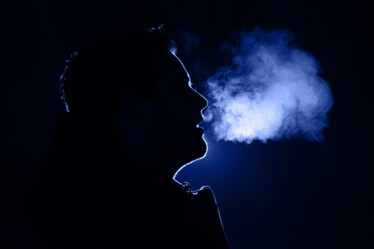 Silhouette of a person exhaling. Pitt Hopkins syndrome is a rare condition that causes breathing problems in sufferers, and UConn researchers are working to understand it.